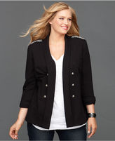 INC International Concepts Plus Size Jacket, Beaded Long Blazer