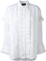 The Kooples english embroidery ruffled shirt - women - Cotton - XS