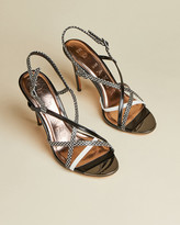 Ted Baker THEANAA Snakeskin leather strappy sandals