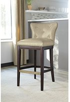 Signature Design by Ashley Tall Upholstered Barstool in Off White Finish - Set of 2