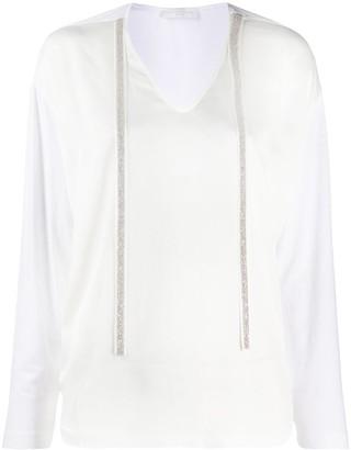 Fabiana Filippi bead detail T-shirt