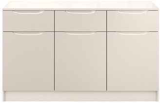 Bilbao Ready Assembled Large High Gloss Sideboard -Cashmere
