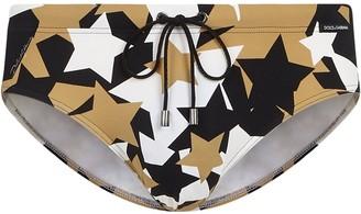 Dolce & Gabbana Star-Print Swimming Briefs