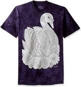 The Mountain Men's Big and Tall Colorwear Animals 26 Swan Adult Coloring T-Shirt