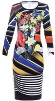 Mary Katrantzou Stripe Bouquet-print jersey dress