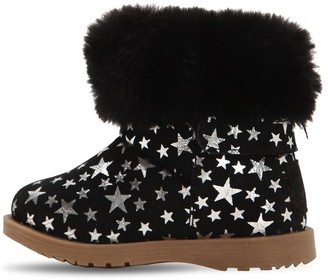 Colors of California All Over Stars Print Suede Boots