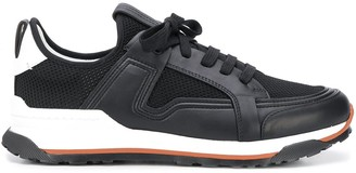 Ermenegildo Zegna Leather-Panel Low-Top Trainers