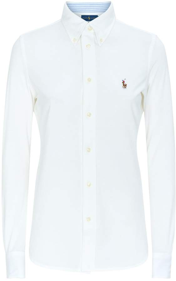 b2fa41c9 Womens White Fitted Shirt By Ralph Lauren - ShopStyle UK