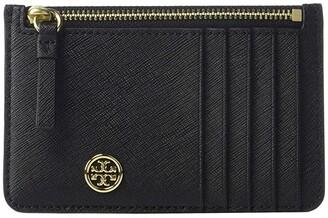 Tory Burch Robinson Slim Card Case (Black) Credit card Wallet