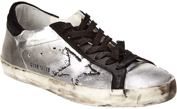 Golden Goose Leather & Suede Skateboard Sneaker