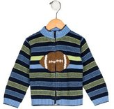 Florence Eiseman Boys' Intarsia Zip-Up Cardigan