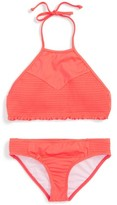 Billabong Girl's Smocked Two-Piece Swimsuit