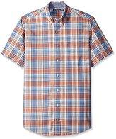 Nautica Men's Big & Tall Fireside Plaid Short-Sleeve Shirt