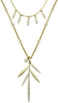 Nicole Miller Pave Pod Fringe Two Layered Necklace