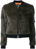 GUILD PRIME cropped bomber jacket - women - Rabbit Fur - 34