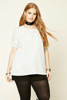 Forever 21 FOREVER 21+ Plus Size Marled High-Low Tee