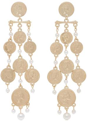 Piper Coin Chandelier Earring