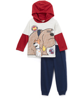 Children's Apparel Network Blue & Red 'Every Dog Has His Day' Hooded Tee & Pants - Toddler