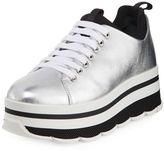 Prada Linea Rossa Leather Lace-Up Platform Sneaker