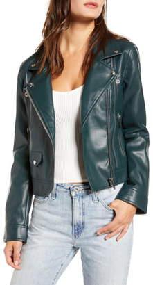 Blank NYC BLANKNYC Zipper Detail Faux Leather Moto Jacket