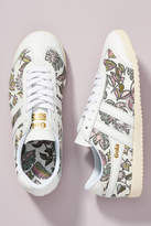 Gola Floral Leather Sneakers