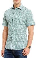 Daniel Cremieux Jeans Paisley Snap Front Short-Sleeve Woven Shirt