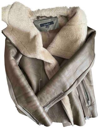 Muu Baa Muubaa Grey Leather Jackets