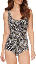 AZUL BY MAXINE OF HOLLYWOOD Azul by Maxine of Hollywood Paisley Girl Leg One Piece Swimsuit
