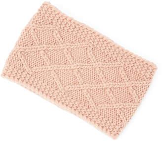 David & Young Women's Ear Warmers DUSTY - Dusty Pink Diamond-Knit Head Wrap