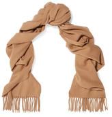 Acne Studios Canada Narrow Fringed Wool Scarf - Camel