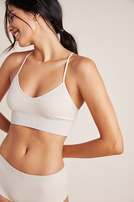 Floreat Seamless T-Back Bralette By Floreat in White Size M/L
