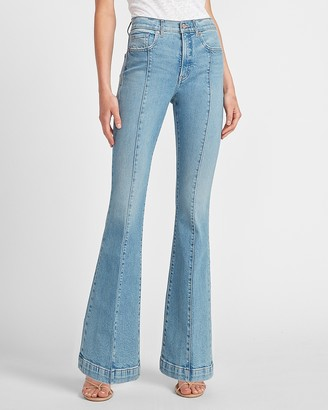 Express High Waisted Seamed Slim Flare Jeans