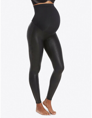 Spanx Mama faux-leather leggings