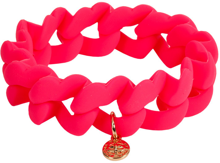 Marc by Marc Jacobs Bracelet en caoutchouc rose K.-O. Turnlock
