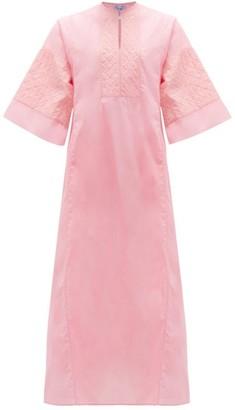 Thierry Colson Rachel Applique Cotton-voile Kaftan - Pink