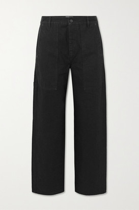 The Row Hester Cropped Mid-rise Straight-leg Jeans - Black