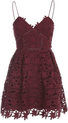 Self-Portrait Berry Azaelea Mini Dress