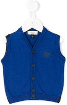 Armani Junior knitted vest - kids - Cotton/Wool - 6 mth