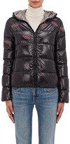 Jimi Roos Women's Lip-Appliquéd Down Puffer Jacket-BLACK