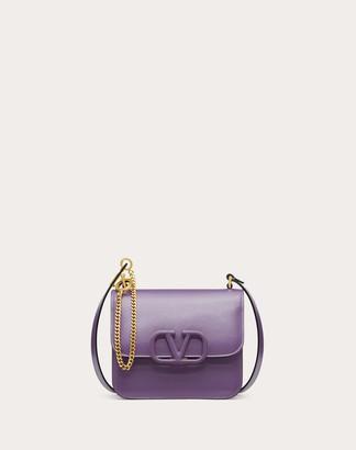 Valentino Garavani Small Vsling Shiny Calfskin Shoulder Bag Women Indian Violet 100% Pelle Di Vitello - Bos Taurus OneSize