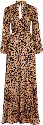 Temperley London Piera Leopard-Print Silk Gown