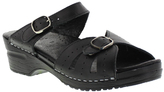 Sanita Black Original Joplin Leather Sandal - Women