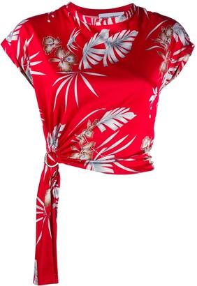 Paco Rabanne foliage-print O-ring top