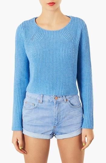 Topshop Ribbed Crop Sweater
