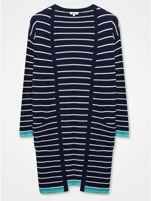 M&Co Khost Clothing striped longline cardigan