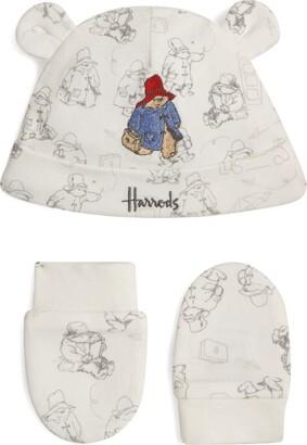 Harrods Paddington Hat and Mitt Set