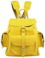 Grafea Popcorn Medium Leather Rucksack Yellow