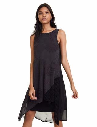 Desigual womens DRESS KEIRA Knee-Length Sleeveless Dress Black (NEGRO 2000) 10 (Manufacturer Size: 38)