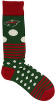 For Bare Feet Minnesota Wild Dots and Stripes 538 Socks