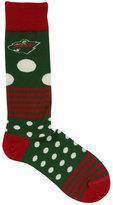 For Bare Feet Minnesota Wild Dots and Stripes 538 Socks